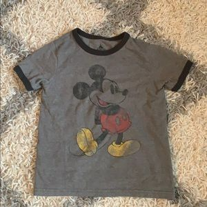 Vintage style Mickey Mouse ringer tee
